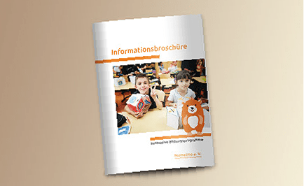 informationsbroschüre für momelino gestaltet von claudia vollmer
